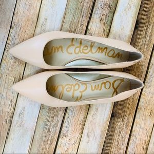 Sam Edelman Nude-pink pointed toe flats sz 9.5